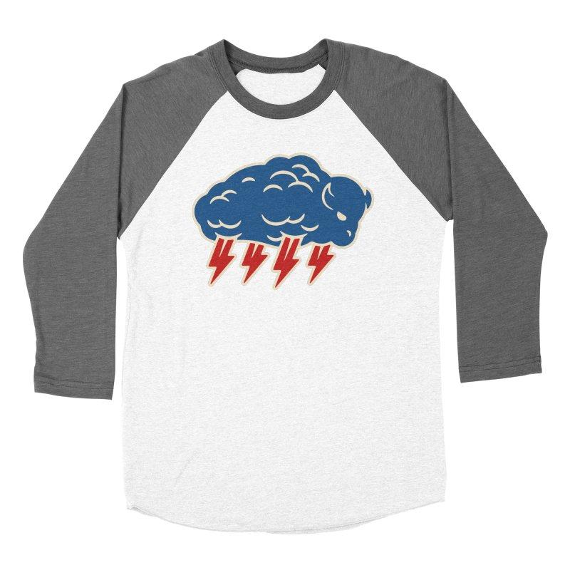 Buffalo Thunder Women's Baseball Triblend Longsleeve T-Shirt by Cody Weiler