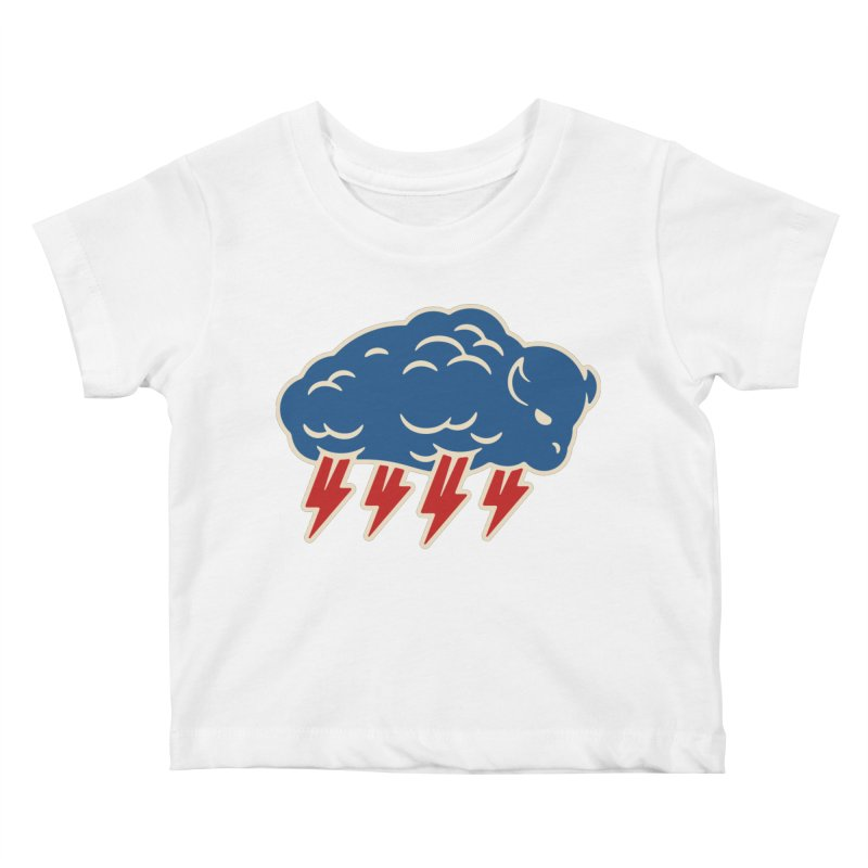 Buffalo Thunder Kids Baby T-Shirt by Cody Weiler