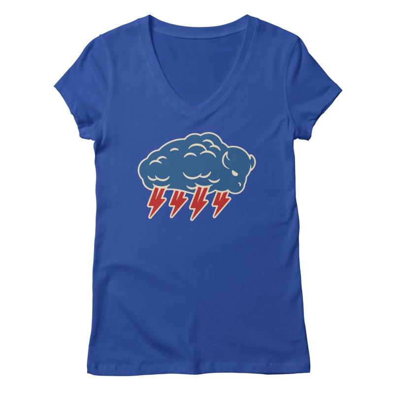 Buffalo Thunder Women's Regular V-Neck by Cody Weiler