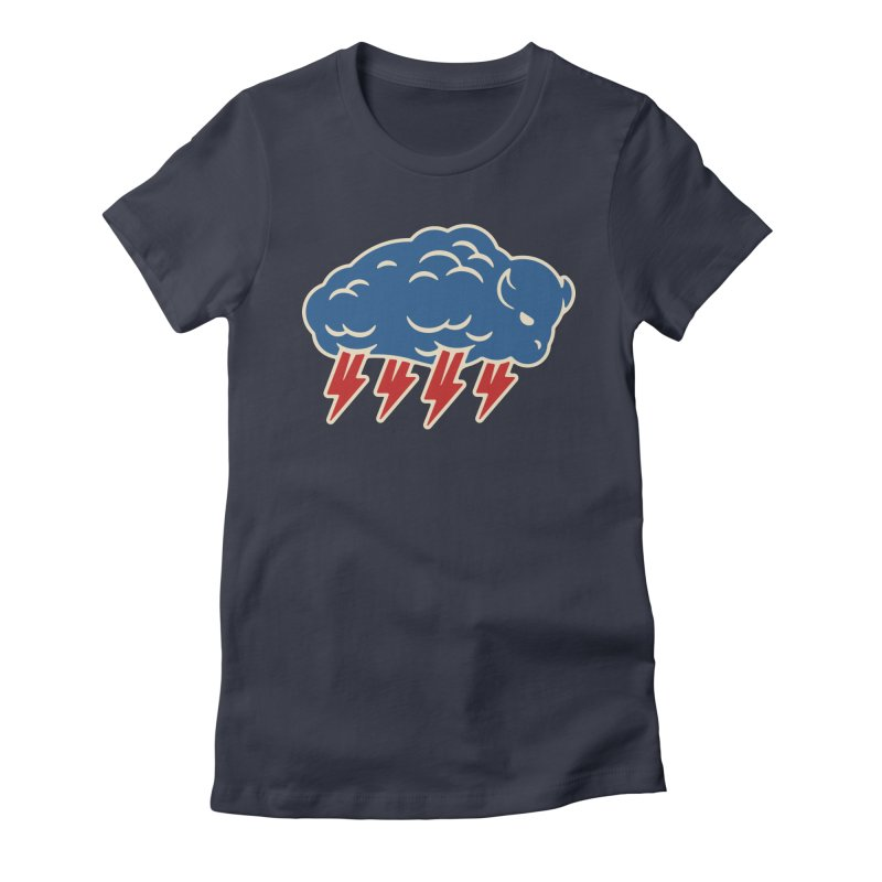 Buffalo Thunder Women's Fitted T-Shirt by Cody Weiler