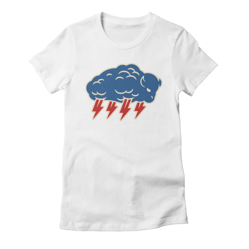 Buffalo Thunder Women's Fitted T-Shirt by Cody Weiler