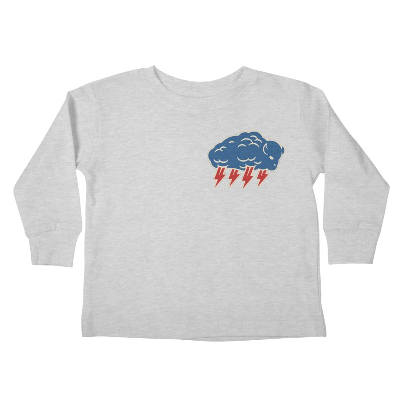 Buffalo Thunder Kids Toddler Longsleeve T-Shirt by Cody Weiler