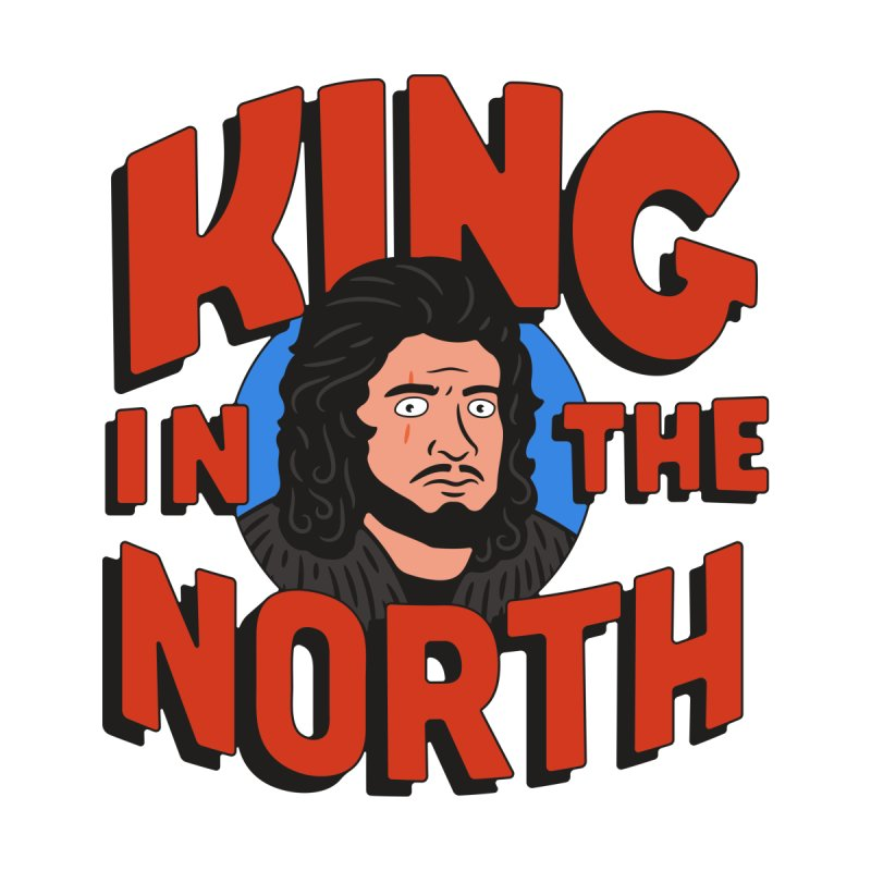 King in the North Kids T-Shirt by Cody Weiler