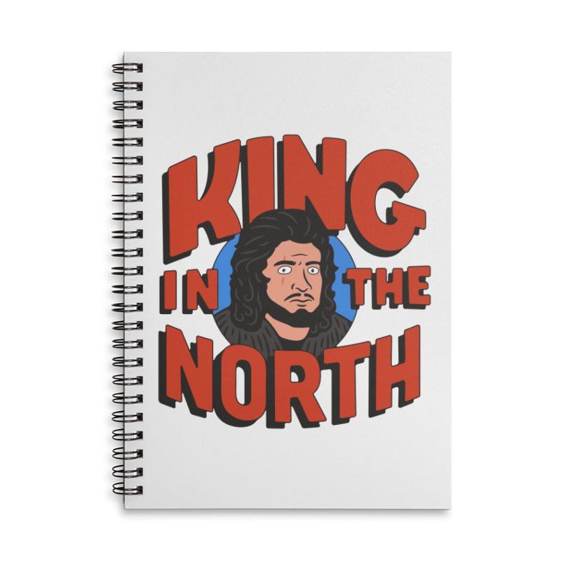 King in the North Accessories Lined Spiral Notebook by Cody Weiler
