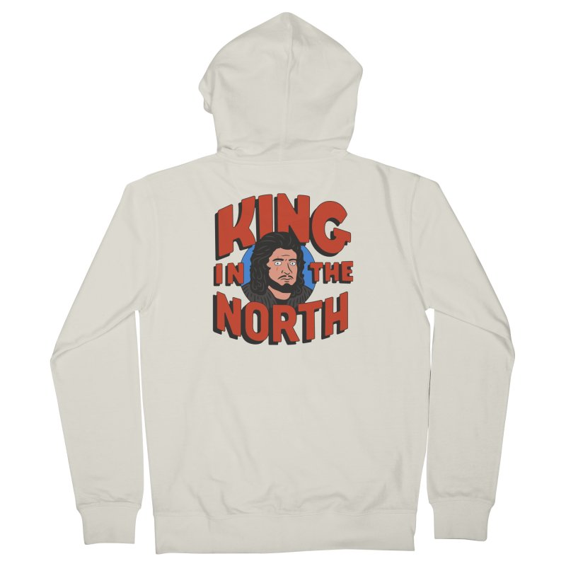 King in the North Men's French Terry Zip-Up Hoody by Cody Weiler