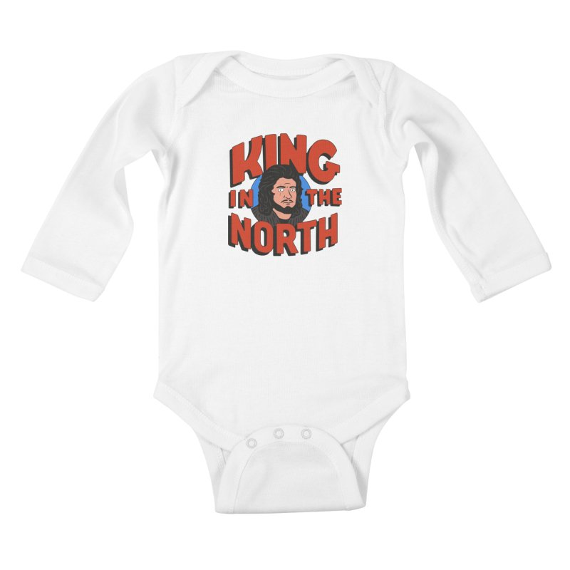 King in the North Kids Baby Longsleeve Bodysuit by Cody Weiler