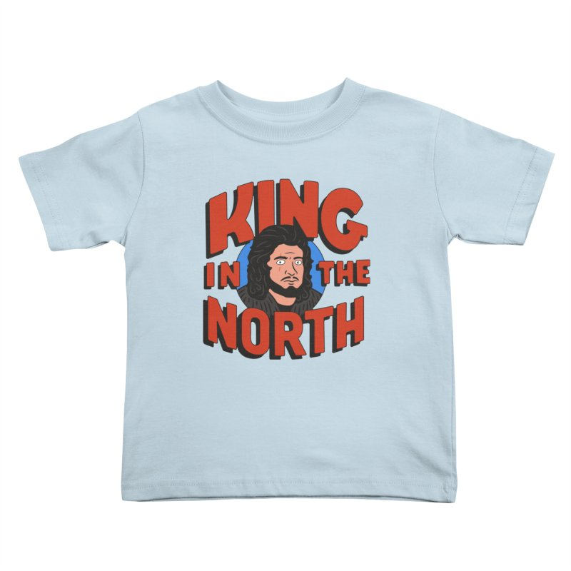 King in the North Kids Toddler T-Shirt by Cody Weiler
