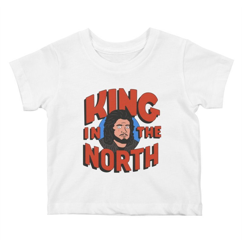 King in the North Kids Baby T-Shirt by Cody Weiler