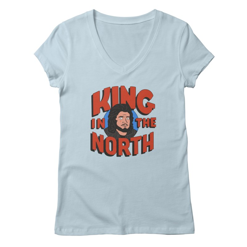 King in the North Women's V-Neck by Cody Weiler
