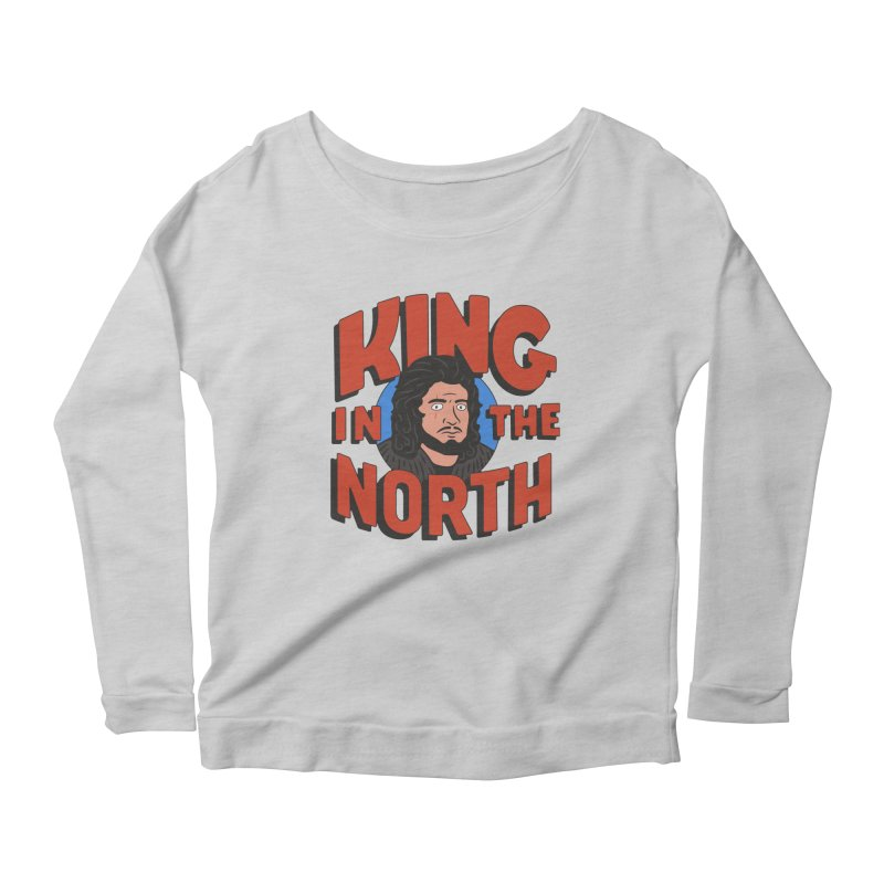 King in the North Women's Scoop Neck Longsleeve T-Shirt by Cody Weiler