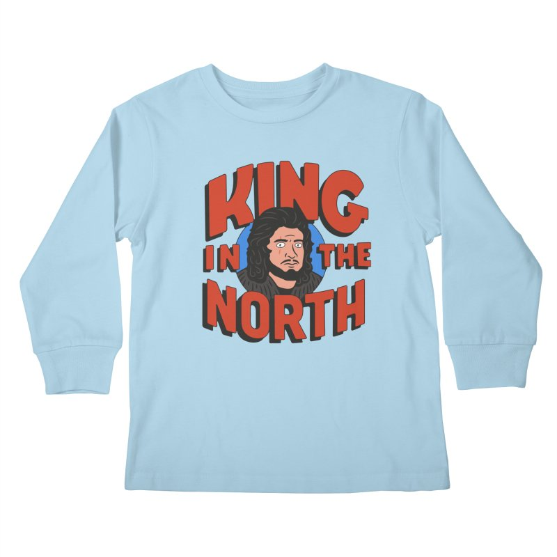 King in the North Kids Longsleeve T-Shirt by Cody Weiler