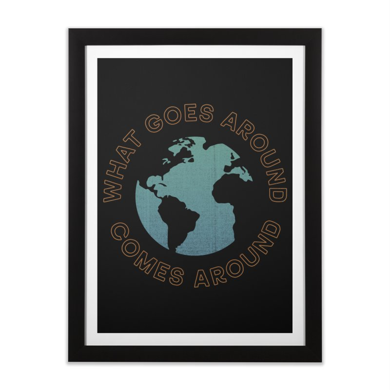 What Goes Around Home Framed Fine Art Print by Cody Weiler