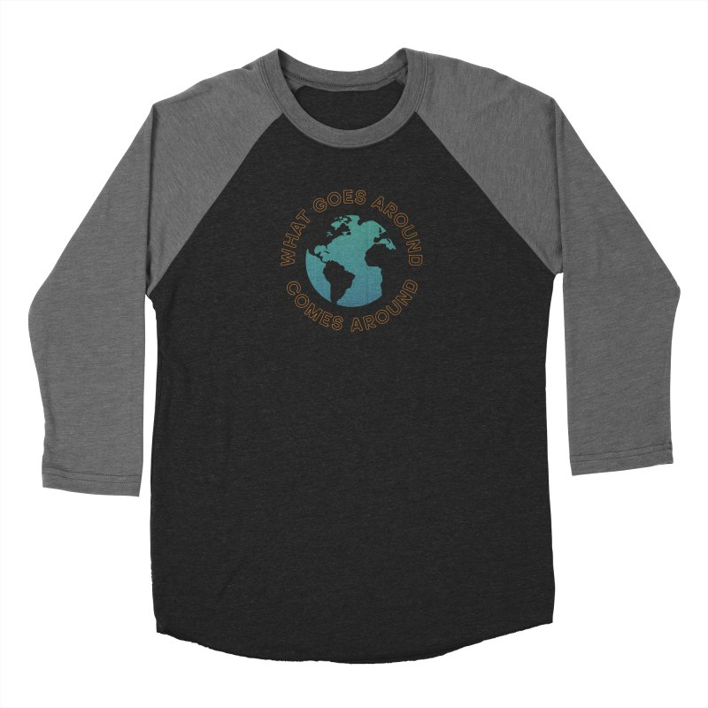 What Goes Around Men's Baseball Triblend Longsleeve T-Shirt by Cody Weiler