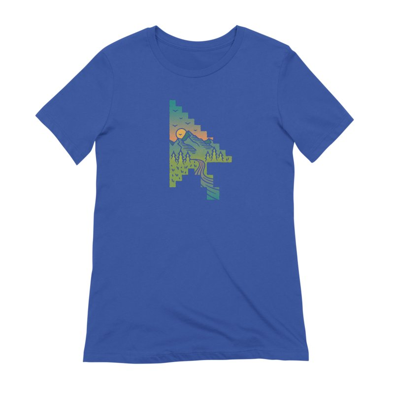Point of View in Women's Extra Soft T-Shirt Royal Blue by Cody Weiler