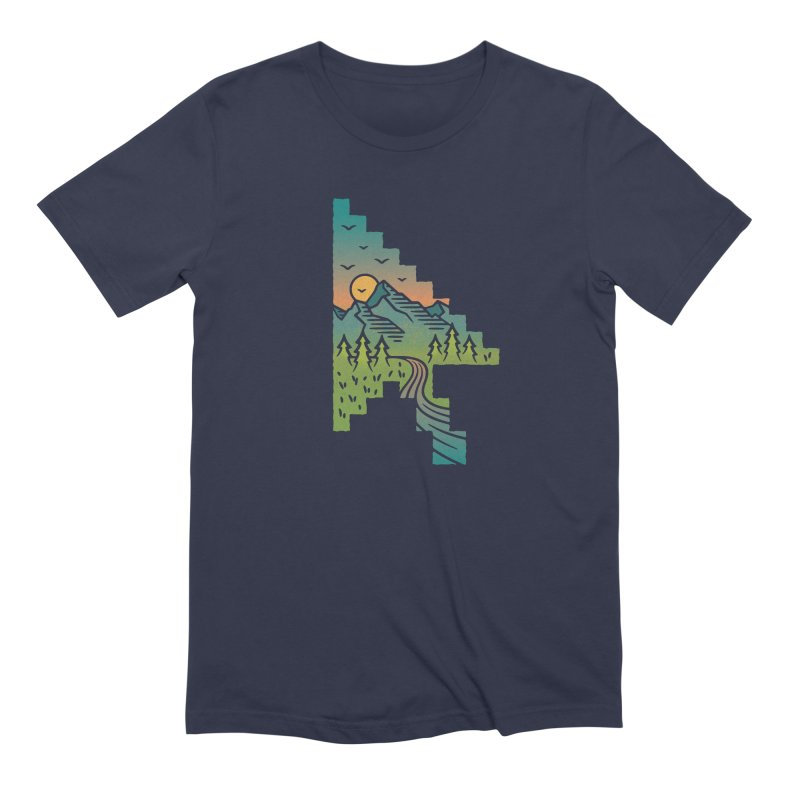 Point of View in Men's Extra Soft T-Shirt Navy by Cody Weiler