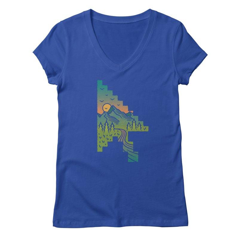 Point of View Women's Regular V-Neck by Cody Weiler