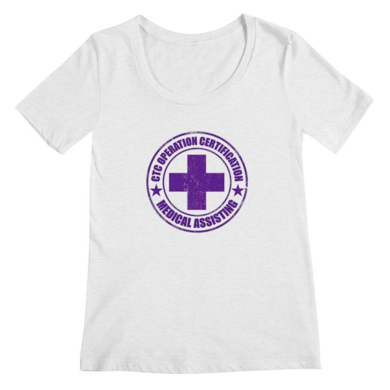 CTC MED CROSS NURSE ASSISTANT SHIRT Women's Regular Scoop Neck by CTCROCKETSHOP MERCH