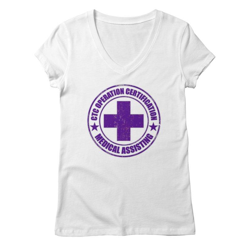 CTC MED CROSS NURSE ASSISTANT SHIRT Women's Regular V-Neck by CTCROCKETSHOP MERCH