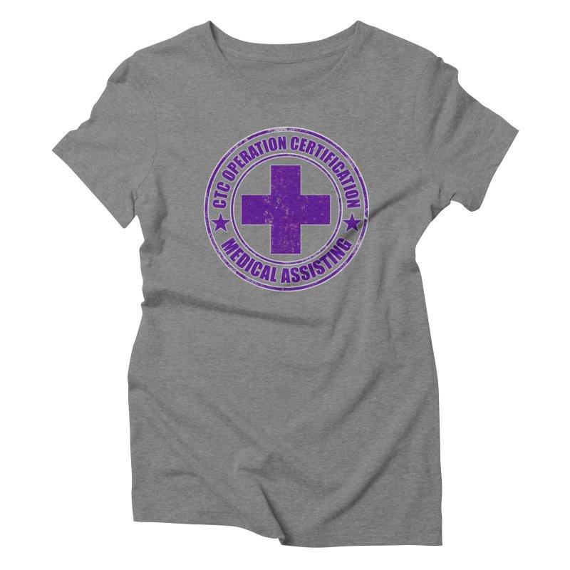 CTC MED CROSS NURSE ASSISTANT SHIRT Women's Triblend T-Shirt by CTCROCKETSHOP MERCH