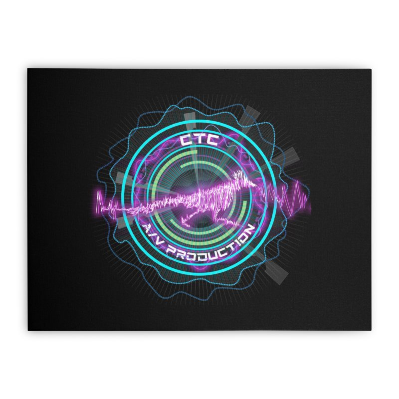 CTC AV Waveform Rocket Design Home Stretched Canvas by CTCROCKETSHOP MERCH