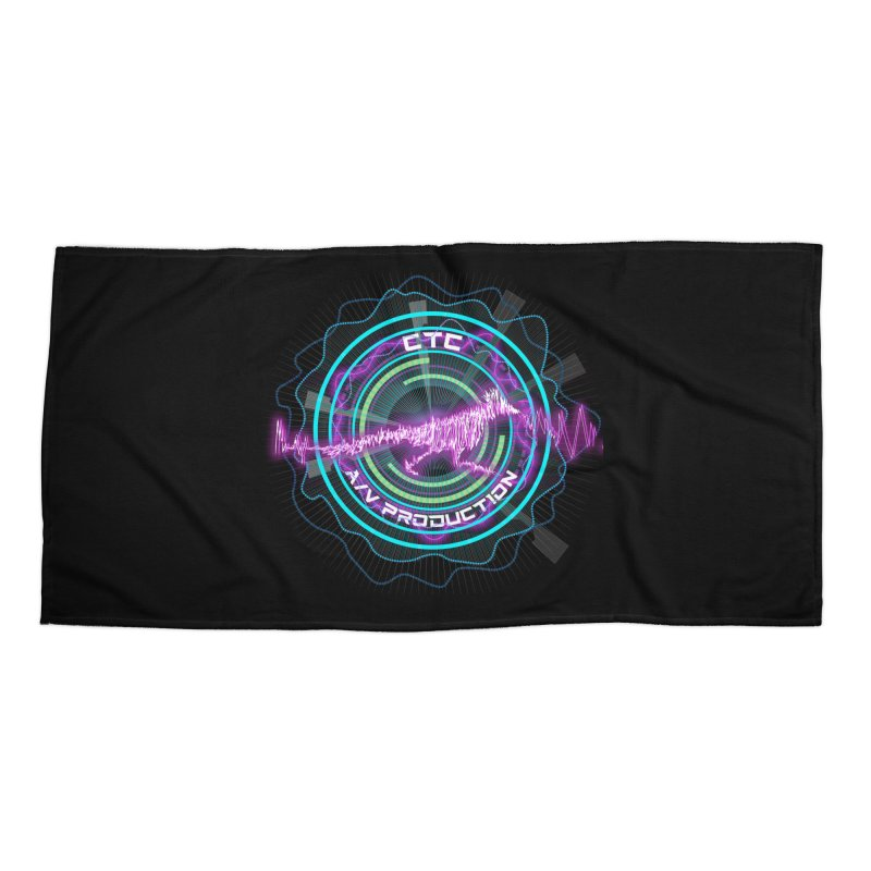 CTC AV Waveform Rocket Design Accessories Beach Towel by CTCROCKETSHOP MERCH
