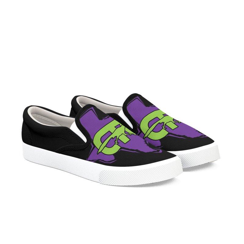 CTC- TEXAS purple & lime Women's Shoes by CTCROCKETSHOP MERCH