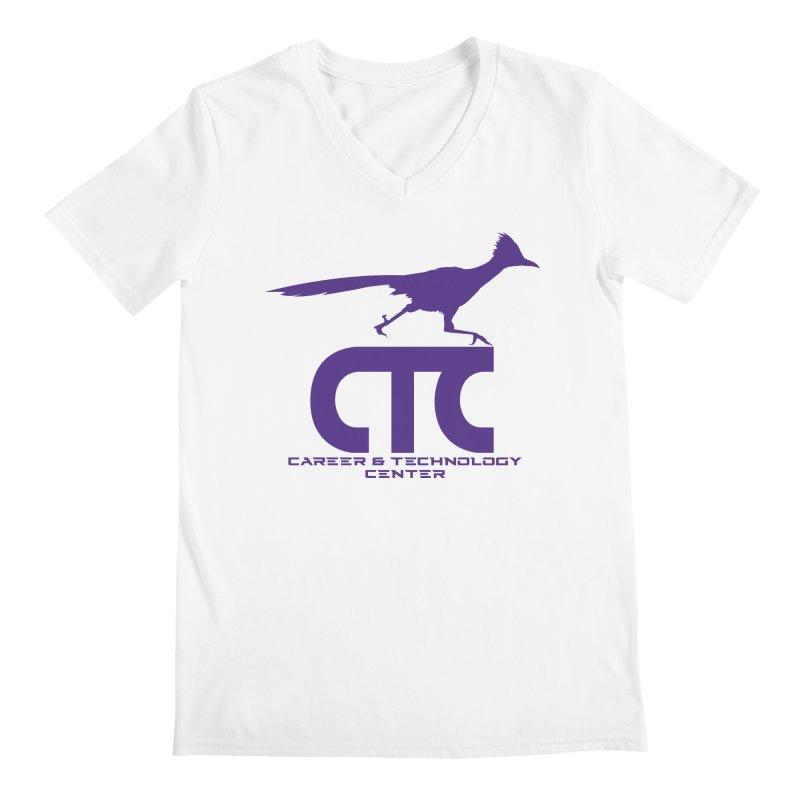 CTC with Rocket Men's V-Neck by CTCROCKETSHOP MERCH