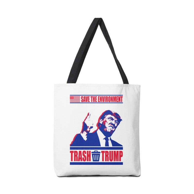 Trash Trump - Reusable Shopping Bag - Save the Environment in Tote Bag by Colin Toke's Artist Shop