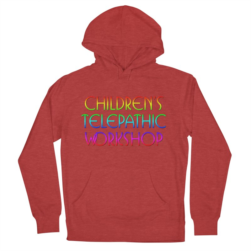 Children's Telepathic Workshop Logo (Rainbow / Stacked) Men's French Terry Pullover Hoody by Children's Telepathic Workshop