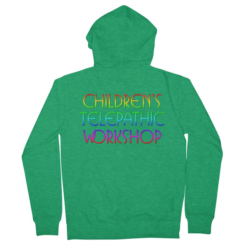 Children's Telepathic Workshop Logo (Rainbow / Stacked) Men's French Terry Zip-Up Hoody by Children's Telepathic Workshop