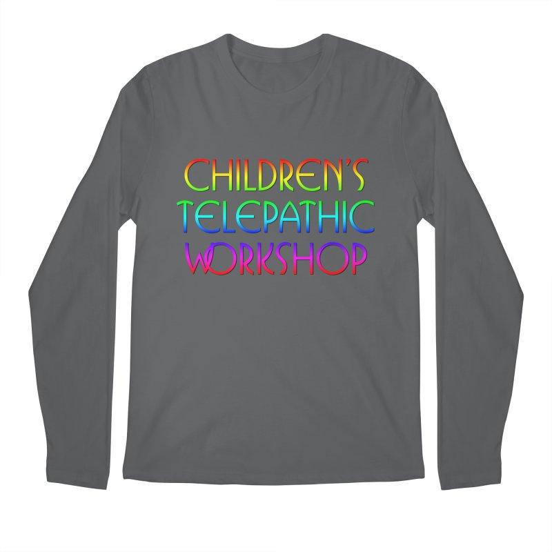 Children's Telepathic Workshop Logo (Rainbow / Stacked) Men's Longsleeve T-Shirt by Children's Telepathic Workshop
