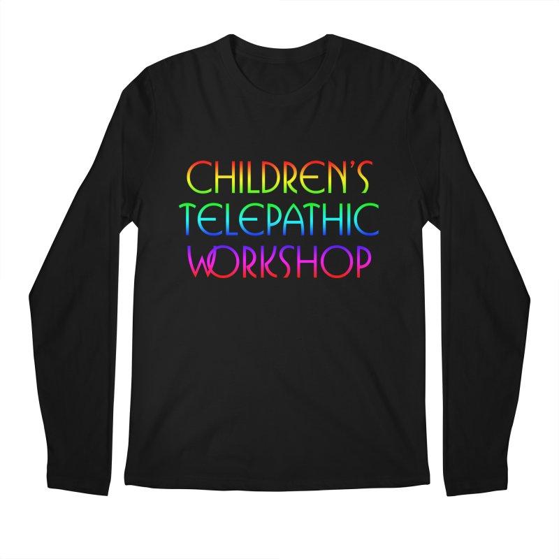 Children's Telepathic Workshop Logo (Rainbow / Stacked) Men's Regular Longsleeve T-Shirt by Children's Telepathic Workshop