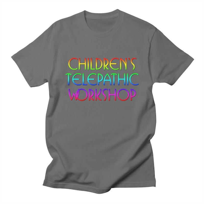 Children's Telepathic Workshop Logo (Rainbow / Stacked) Men's T-Shirt by Children's Telepathic Workshop