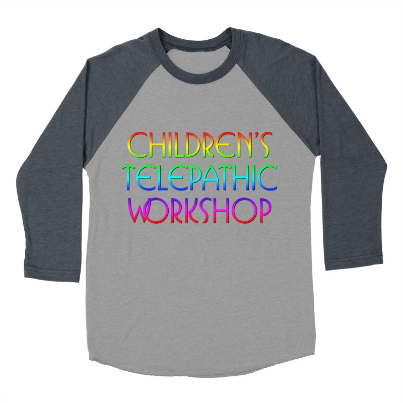 Children's Telepathic Workshop Logo (Rainbow / Stacked) Women's Baseball Triblend Longsleeve T-Shirt by Children's Telepathic Workshop