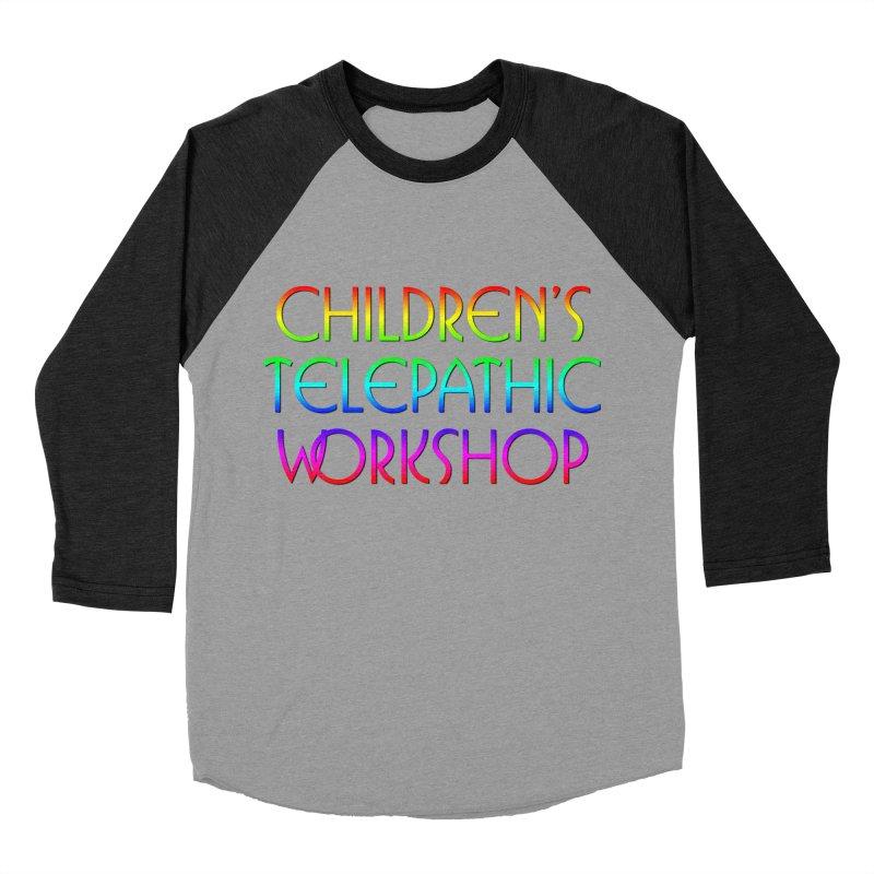 Children's Telepathic Workshop Logo (Rainbow / Stacked) Men's Baseball Triblend Longsleeve T-Shirt by Children's Telepathic Workshop