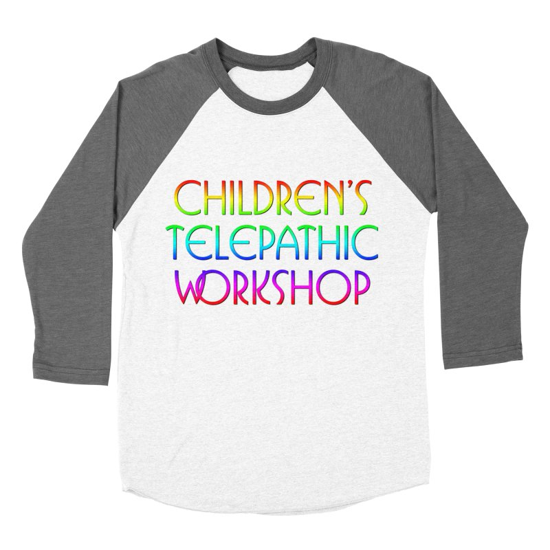 Children's Telepathic Workshop Logo (Rainbow / Stacked) Men's Baseball Triblend Longsleeve T-Shirt by Children's Telepathic Workshop