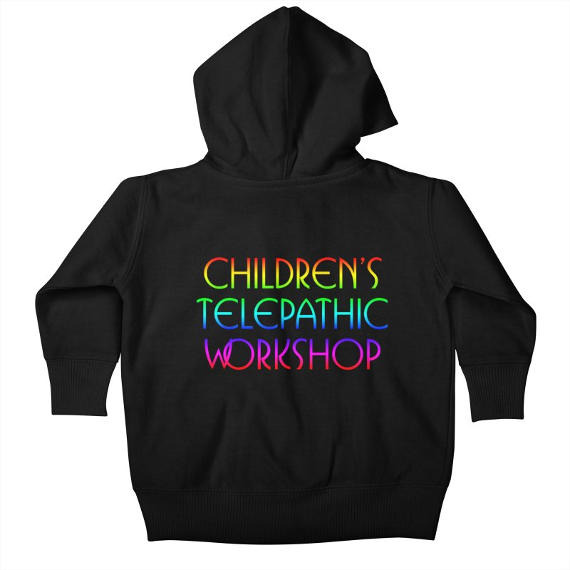 Children's Telepathic Workshop Logo (Rainbow / Stacked) Kids Baby Zip-Up Hoody by Children's Telepathic Workshop