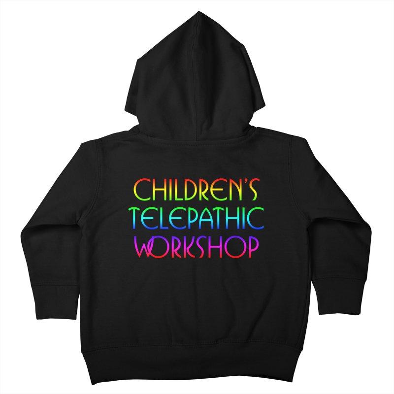 Children's Telepathic Workshop Logo (Rainbow / Stacked) Kids Toddler Zip-Up Hoody by Children's Telepathic Workshop