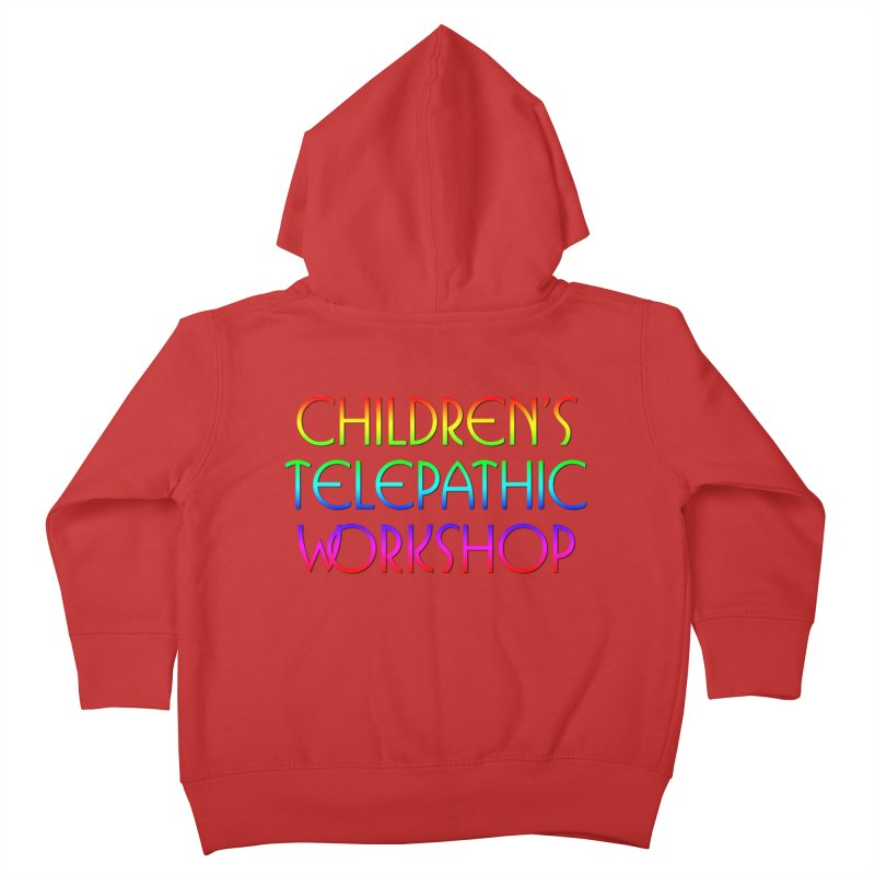 Children's Telepathic Workshop Logo (Rainbow / Stacked) Kids Toddler Zip-Up Hoody by Children's Telepathic Workshop
