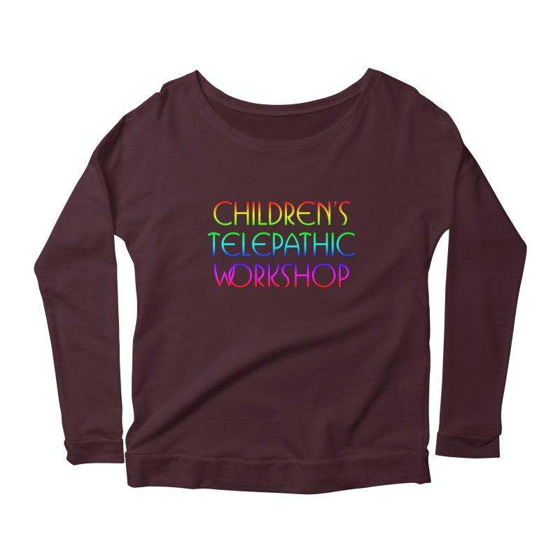 Children's Telepathic Workshop Logo (Rainbow / Stacked) Women's Longsleeve T-Shirt by Children's Telepathic Workshop
