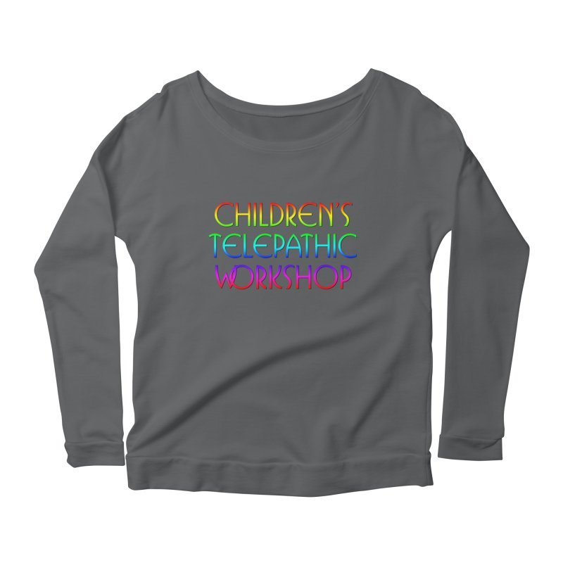 Children's Telepathic Workshop Logo (Rainbow / Stacked) Women's Scoop Neck Longsleeve T-Shirt by Children's Telepathic Workshop