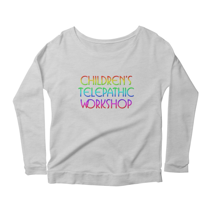 Children's Telepathic Workshop Logo (Rainbow / Stacked) Women's Scoop Neck Longsleeve T-Shirt by Children's Telepathic Workshop