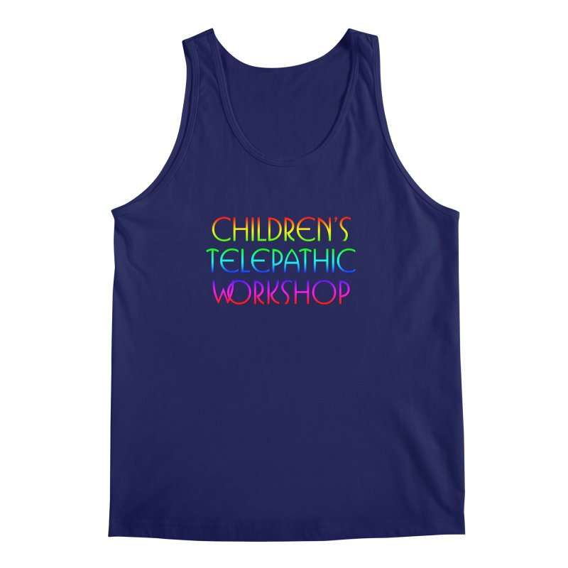 Children's Telepathic Workshop Logo (Rainbow / Stacked) Men's Regular Tank by Children's Telepathic Workshop