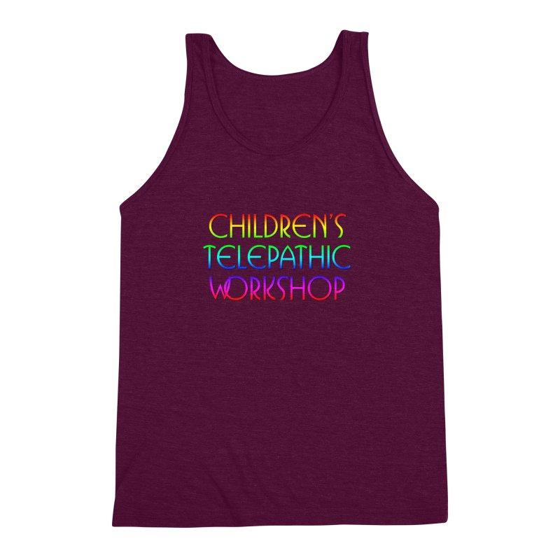 Children's Telepathic Workshop Logo (Rainbow / Stacked) Men's Triblend Tank by Children's Telepathic Workshop