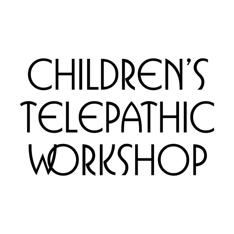 Children's Telepathic Workshop Logo (Black / Stacked) Women's Longsleeve T-Shirt by Children's Telepathic Workshop