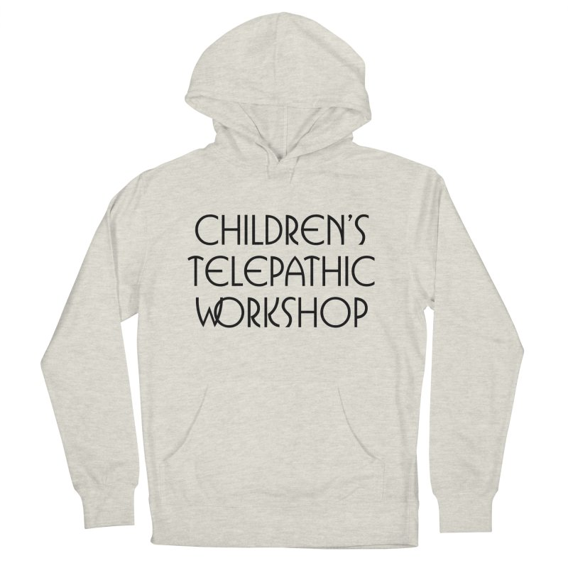 Children's Telepathic Workshop Logo (Black / Stacked) Men's French Terry Pullover Hoody by Children's Telepathic Workshop