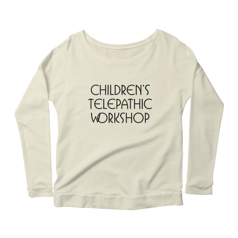 Children's Telepathic Workshop Logo (Black / Stacked) Women's  by Children's Telepathic Workshop
