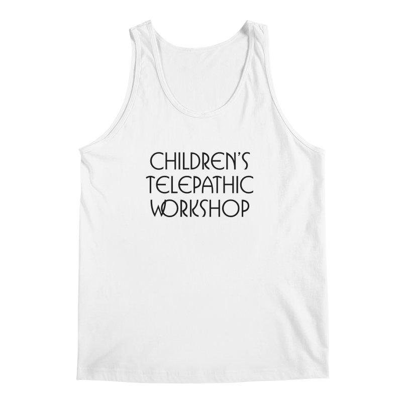 Children's Telepathic Workshop Logo (Black / Stacked) Men's Regular Tank by Children's Telepathic Workshop