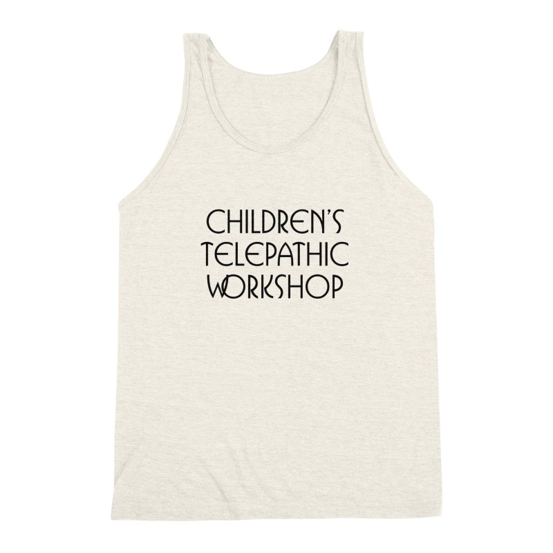 Children's Telepathic Workshop Logo (Black / Stacked) Men's  by Children's Telepathic Workshop