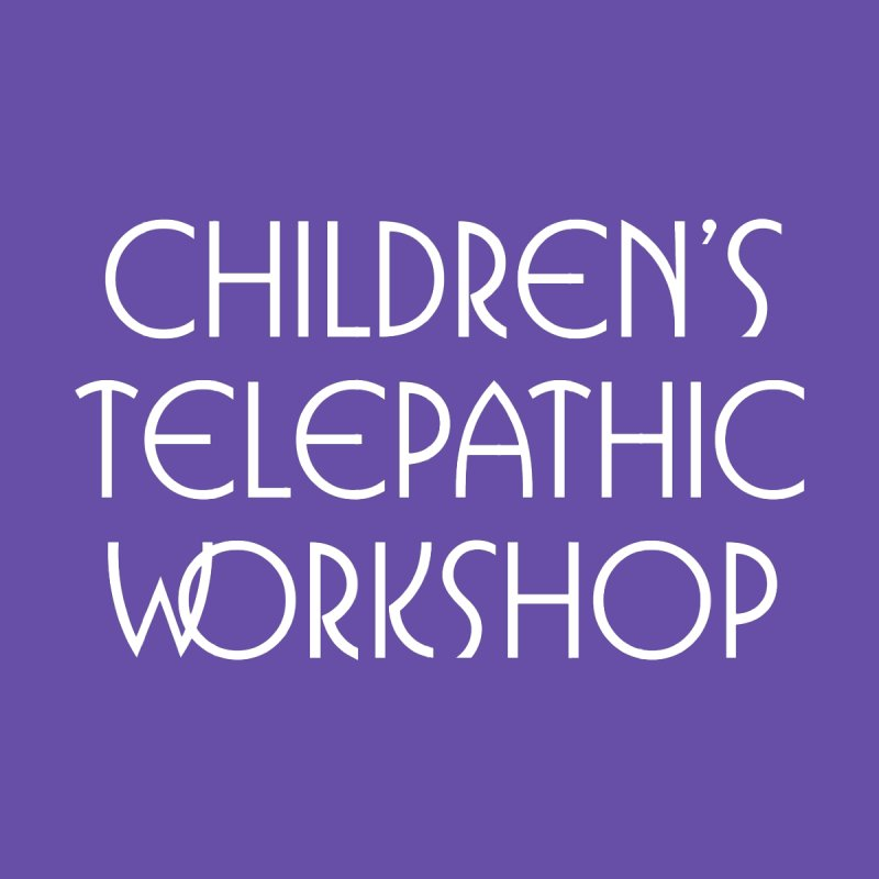 Children's Telepathic Workshop Logo (White / Stacked) Women's Longsleeve T-Shirt by Children's Telepathic Workshop